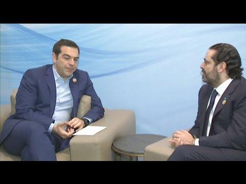 Συνάντηση του Αλ. Τσίπρα με τον Λιβανέζο ομόλογό του στην Αίγυπτο