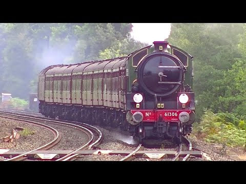 Fast Steam - Mayflower at Brookwood 12th August 2015