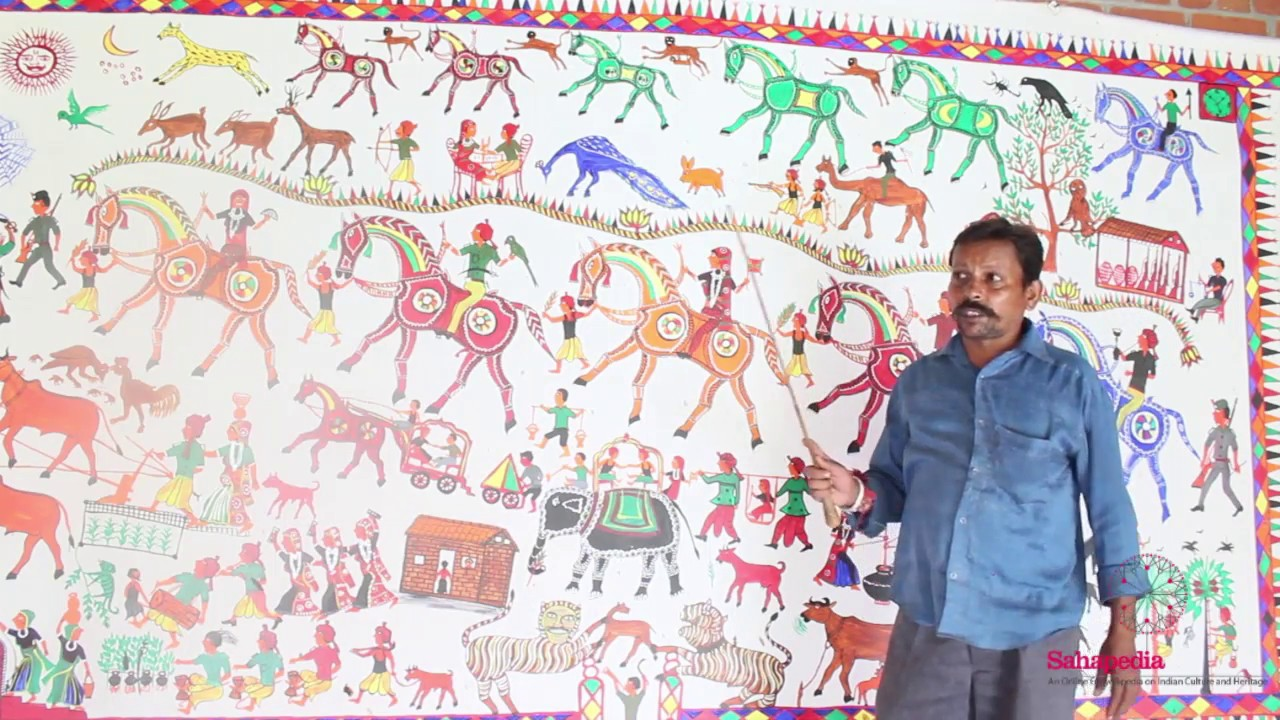 Demonstration of Motifs in Pithora Painting