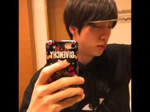 Hair cutting - BTS Jin Cut His Own Hair