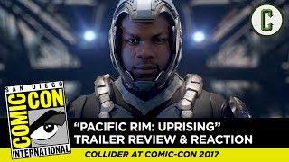 "Perri Nemiroff and Dennis Tzeng react to and review the first teaser trailer for ""Pacific Rim: Uprising"", from SDCC 2017 - San Diego Comic-Con.Subscribe to ColliderVideos for more Comic-Con coverage all week, including exclusive interviews, breaking news, panel reviews, and trailer reactions!Follow us on Twitter: https://twitter.com/ColliderVideoFollow us on Instagram: https://instagram.com/ColliderVideoFollow us on Facebook: https://facebook.com/colliderdotcomAs the online source for movies, television, breaking news, incisive content, and imminent trends, COLLIDER is a more than essential destination: http://collider.comFollow Collider.com on Twitter: https://twitter.com/ColliderSubscribe to the SCHMOES KNOW channel: https://youtube.com/schmoesknowCollider Show Schedule:- MOVIE TALK: Weekdays  http://bit.ly/29BRtOO- HEROES: Weekdays  http://bit.ly/29F4Job- MOVIE TRIVIA SCHMOEDOWN: Tuesdays & Fridays  http://bit.ly/29C2iRV - TV TALK: Mondays  http://bit.ly/29BR7Yi - COMIC BOOK SHOPPING: Wednesdays  http://bit.ly/2spC8Nn- JEDI COUNCIL: Thursdays  http://bit.ly/29v5wVi - COLLIDER NEWS WITH KEN NAPZOK: Weekdays  http://bit.ly/2t9dNIE- BEST MOVIES ON NETFLIX RIGHT NOW: Fridays  http://bit.ly/2txP3gn- BEHIND THE SCENES & BLOOPERS: Saturdays  http://bit.ly/2kuLuyI- MAILBAG: Weekends  http://bit.ly/29UsKsd"