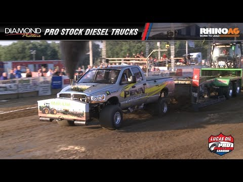 PPL 2017: Pro Stock Diesel Trucks pulling at the Midwest Summer Nationals