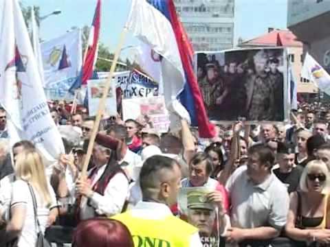 Бања Лука и Пале - протест против хапшења Ратка Младића