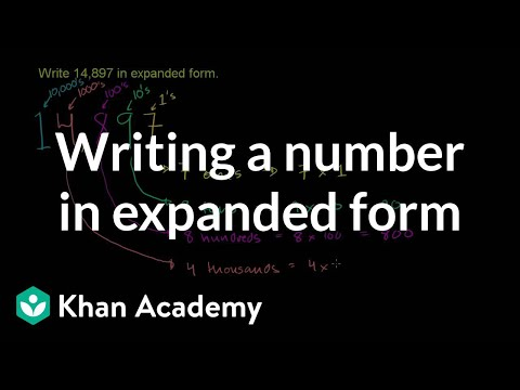 Writing A Number In Expanded Form Video Khan Academy