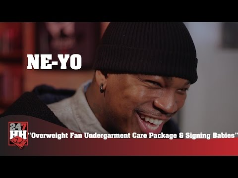 Ne-Yo - Overweight Fan Undergarment Care Package & Signing Babies (247HH Wild Tour Stories)
