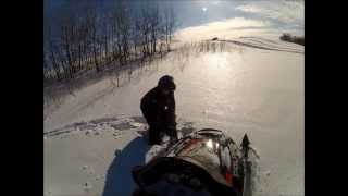 10. Polaris Switchback 600 Buried In Slush Shell Lake, Sask