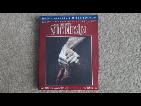 Schindler's List 20th Anniversary Limited Edition Blu-Ray Unboxing!