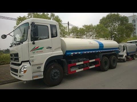 xe phun nước rửa đường 12 khối dongfeng video