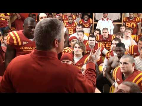 Paul Rhoads - Watch Iowa State head football coach Paul Rhoads and the Iowa State football team celebrate in the locker room after the win over Oklahoma State.