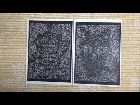 網友說要把這幅「貓跟機器人重疊在一起」時我以為只會一片黑,但數秒後就不得不驚訝地狂揉眼睛!