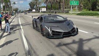 Video Lamborghini Veneno Driving + REVVING  BullFest 2017 at Lambo Home Lamborghini Miami MP3, 3GP, MP4, WEBM, AVI, FLV Februari 2018