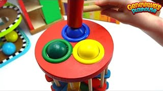 Video Learn Colors Best Learning Videos for Kids: Cute Kid Genevieve Plays Ball Pounding! Colorful Fun! MP3, 3GP, MP4, WEBM, AVI, FLV Februari 2017