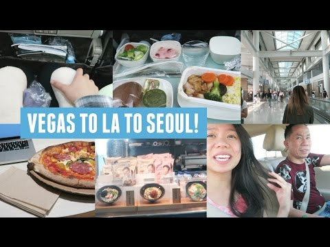 Flying from Las Vegas To Los Angeles To Seoul, South Korea!