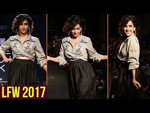 Dangal Actress Sanya Malhotra FIRST Rampwalk