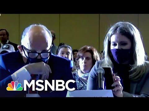 Trump Speaks Via iPhone Speaker Into 'Hearing' On Baseless Fraud Claims   Ayman Mohyeldin   MSNBC