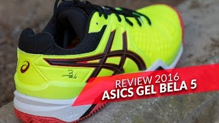 video Review Asics Gel Bela 5 SG 2016 Amarillas
