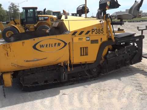 WEILER ASPHALT PAVERS P 385 A equipment video iKWalTAI1O0