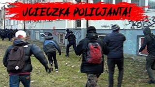 Pościg za policjantem na Marszu o Wolność – Uciekał przed demonstrantami aż się kurzyło :)
