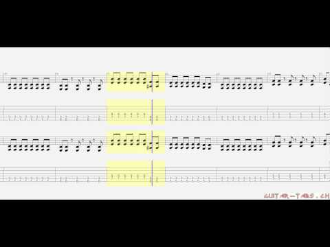 Metallica Tabs - That Was Just Your Life (rhythm)
