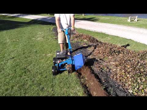 How to edge garden beds with a Bluebird Bed Bug Landscape Edger in New Oxford PA -Ryan's Landscaping (видео)