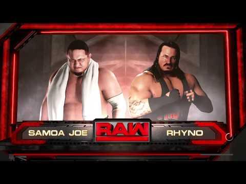 WWE 2K18 Samoa Joe VS Rhyno 1 VS 1 Match