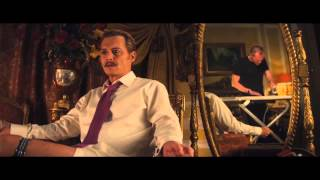 Lord Charlie Mortdecai is an eccentric art dealer with a curly mustache. He is at a casino in Hong Kong meeting with a gangster named Fang to sell a rare vase. Mortdecai is about to collect the money when Fang reminds him that during their last transaction, Mortedcai sold him a piece of art for $3 million when it was only worth $1 million. As payback, Fang wants to collect one of Mortdecai's fingers. One of Fang's men tries to do the job when Mortdecai's faithful manservant/thug Jock steps in and beats the goon. A shootout ensues, forcing Mortdecai and Jock to flee. Recently, Mortedcai and his wife Johanna have come into debt. After returning to his home in London, Johanna sees the mustache her husband has grown and she is utterly repulsed by it, gagging whenever he kisses her. She ponders what they will do about their financial concerns. Here, we learn how much Mortedcai loves his wife, and he also mentions a bit about Jock, specifically how much sex he has and how it's gotten him in hot water (i.e., sleeping with a farmer's daughter).CastJohnny Depp as Charlie MortdecaiEwan McGregor as Inspector MartlandGwyneth Paltrow as Johanna MortdecaiPaul Bettany as Jock StrappOlivia Munn as Georgina KrampfJeff Goldblum as Milton KrampfUlrich Thomsen as RomanovPaul Whitehouse as SpinozaMichael Byrne as the DukeDirected by David KoeppProduced by Christi DembrowskiJohnny DeppAndrew LazarScreenplay by Eric AronsonBased on Mortdecai by Kyril BonfiglioliNarrated by Johnny DeppMusic by Geoff ZanelliMark RonsonCinematography Florian HoffmeisterEdited by Jill SavittProductioncompanyInfinitum NihilMad Chance ProductionsOdd Lot EntertainmentDistributed by Lionsgate