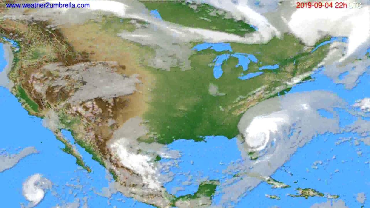 Cloud forecast USA & Canada // modelrun: 00h UTC 2019-09-02