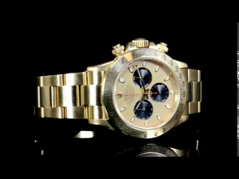 Men's 18k Yellow Gold Rolex Daytona 'Paul Newman F Dial' Automatic Wristwatch