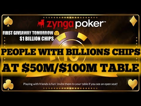 PEOPLE WITH (BILLIONS) CHIPS at $50M/$100M TABLE! 1ST GIVEAWAY( $1B CHIPS) TOMORROW ;) GOODLUCK
