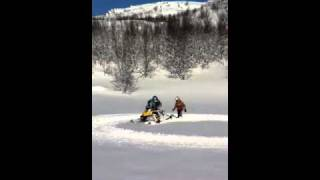 6. ski-doo renegade 550 in deep snow