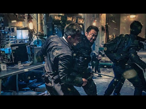 The Gangster, The Cop, The Devil (2019) | Warehouse Fight Scene | 720p |