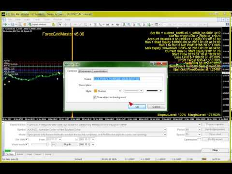 ForexGridMaster v5 in Strategy Tester – Automatic MT4 EA Forex Trading Robot