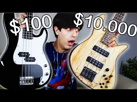 100 Bass Guitar Vs 10 000 Bass Guitar