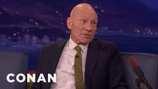 Sir Patrick Stewart Felt Safe In Hugh Jackman's Arms  - CONAN on TBS