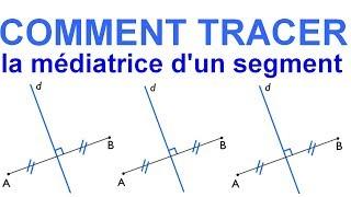 Maths 6ème - Les Bases De La Géométrie : La médiatrice d'un segment Exercice 19
