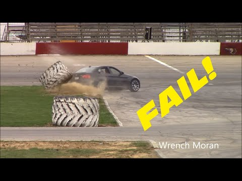 guy wrecks his new bmw m3 drifting
