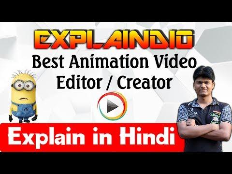 Explaindio video creator tutorial hindi : free video editing software