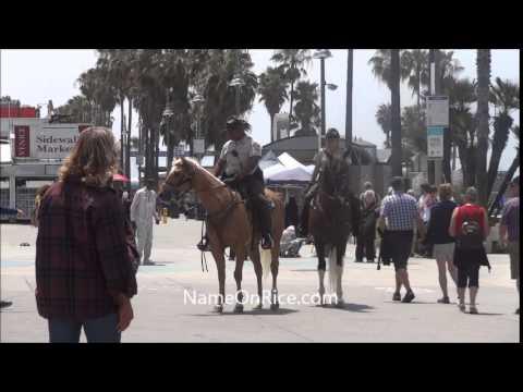 PARK RANGERS ON HORSES VENICE BEACH CALIF MAY 29, 2015