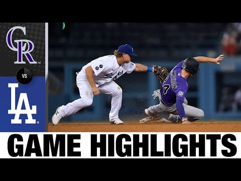 Rockies vs. Dodgers Game Highlights (7/23/21)   MLB Highlights
