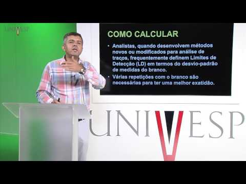 Química Analítica - Aula 18 - Limite de Detecção e Quantificação