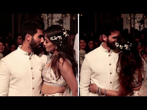 Shahid Kapoor & Wife Meera Rajput's HOT Romance In Public At Lakme Fashion Week 2018