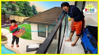 Ryan challenge Daddy to 24 hour challenge overnight up the balcony!