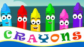 Crayons Color Song For Kid Songs | Child Rhyme And Nursery Rhymes | coloring song for babies