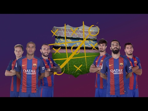 FC Barcelona Players playing Tic-Tac-Toe in Training! Must watch