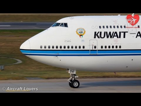 Government Flight - Kuwait Airways Boeing 747 [9K-ADE] Takeoff @ Germany, Berlin-Tegel 19.09.14