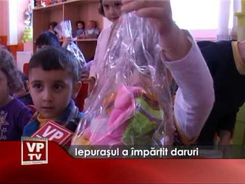 Iepuraşul a împărţit daruri