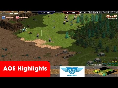 AOE Highlights, Chiến thuật 2 vs 1 mãn nhãn khi quân xấu hơn của Gunnny, Hồng Anh
