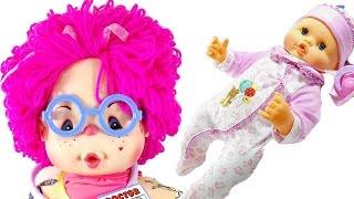 oyuncak hasta bebeğim doktor pembe lahanaya muayene oluyor  oyuncak tiyatrosu