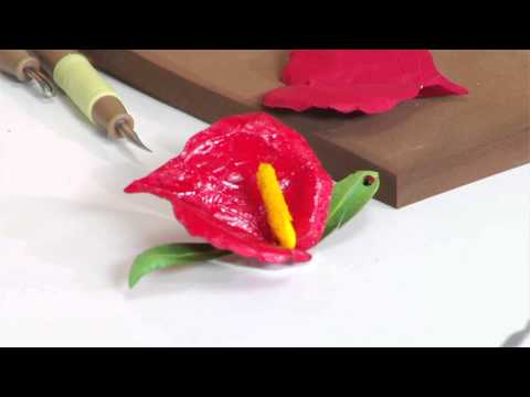 Designing in Susan's Garden with Sizzix Thinlits Anthurium Flower Set