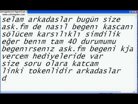 ask.fm begeni hilesi ister inan ister inanma